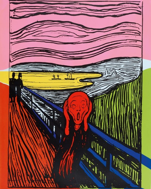 ANDY WARHOL (1928-1987) THE SCREAM (AFTER MUNCH), 1984 (Feldman & Schellmann, IIIA.58)…
