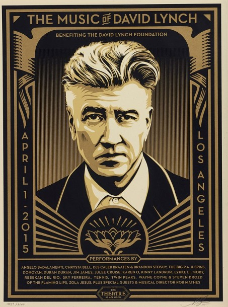 SHEPARD FAIREY (OBEY GIANT DIT) (NE EN 1970) THE MUSIC OF DAVID LYNCH, 2015 Sérigraphie…