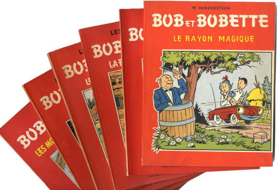 VANDERSTEEN, WILLY BOB & BOBETTE Ensemble de 6 albums en Re, édition du Lombard,…