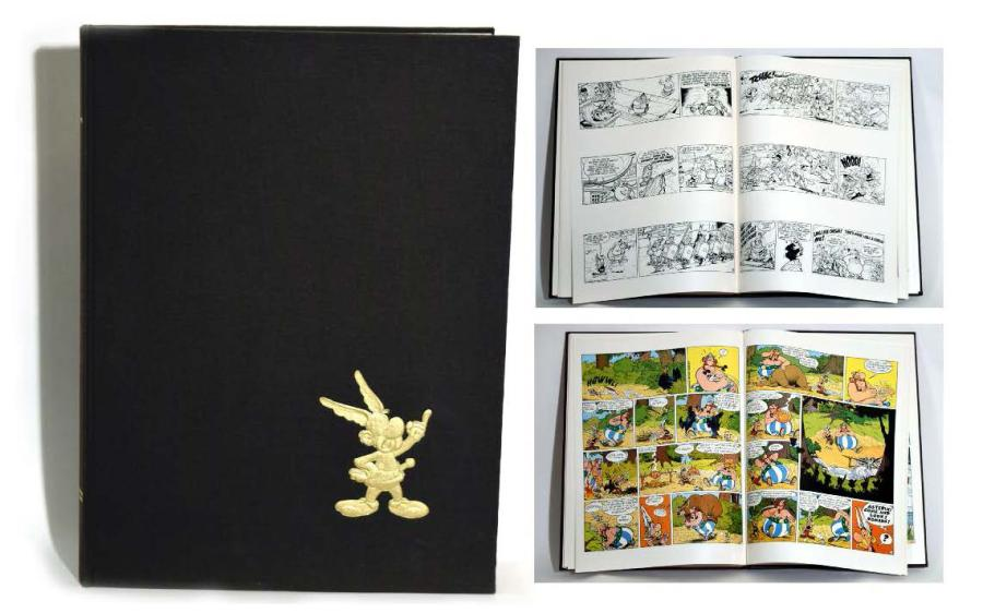 UDERZO, ALBERT ASTÉRIX Blue Book, édition Dargaud 1975. Album grand format, toîlé…