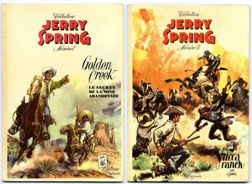 JIJÉ JERRY SPRING Ensemble de 2 Albums - Le secret de la mine abandonnée, EO 1955…