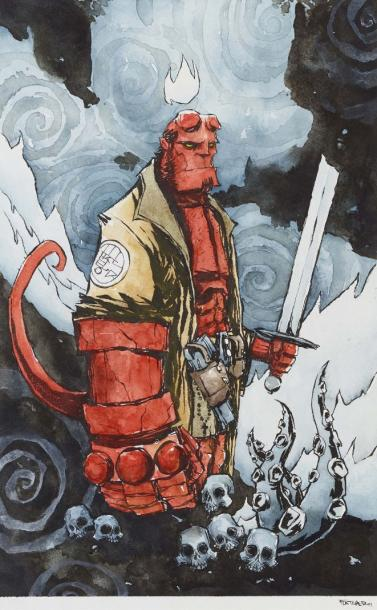 FLETCHER MATTHEW ILLUSTRATION - SÉRIE HELLBOY, AOÛT 2015 Illustration originale du…