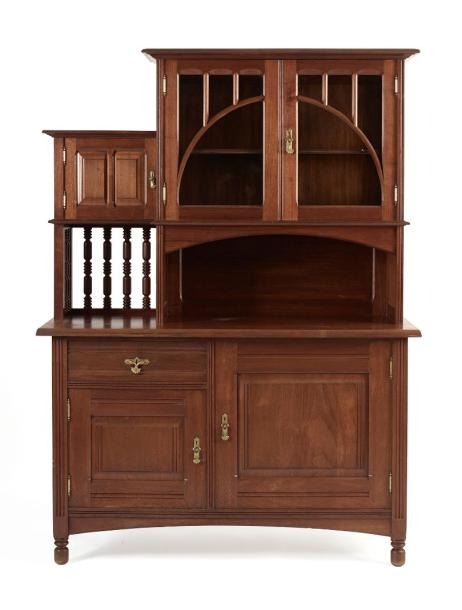 gustave serrurier bovy meuble deux corps en padouk ouvrant deux portes. Black Bedroom Furniture Sets. Home Design Ideas
