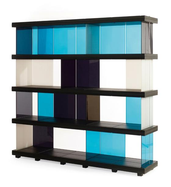 ronan et erwan bouroullec biblioth que modulable en abs et. Black Bedroom Furniture Sets. Home Design Ideas