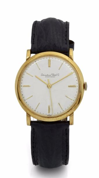 INTERNATIONAL WATCH CO MONTRE ULTRA PLATE SIGNÉE INTERNATIONAL WATCH CO SCHAFFHAUSEN…