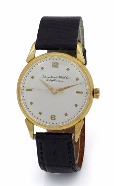 INTERNATIONAL WATCH CO. SCHAFFHAUSEN MONTRE ULTRA PLATE SIGNÉE INTERNATIONAL WATCH…
