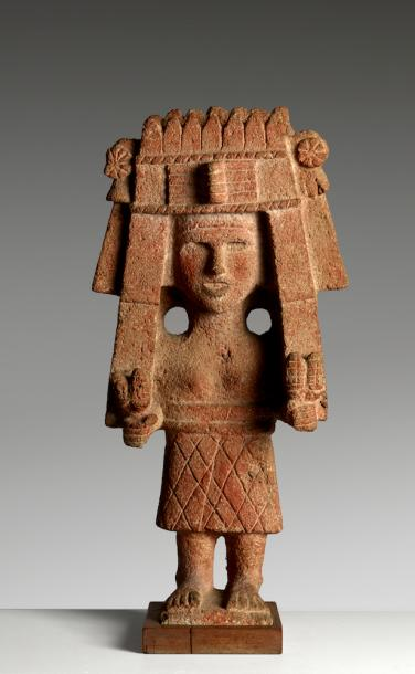 CHICOMECÓATL, DÉESSE DU MAÏS CULTURE AZTÈQUE, MEXIQUE, 1300 - 1521 APR. J.-C. Pierre…