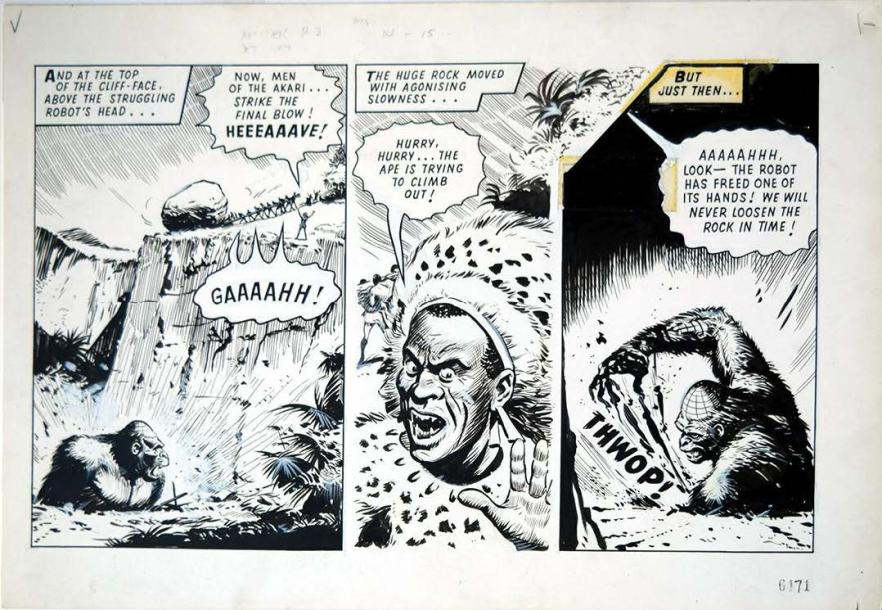 BRADBURY, ERIC MYTEK THE MIGHTY Planche originale à l'encre de chine, issue de l'histoire…