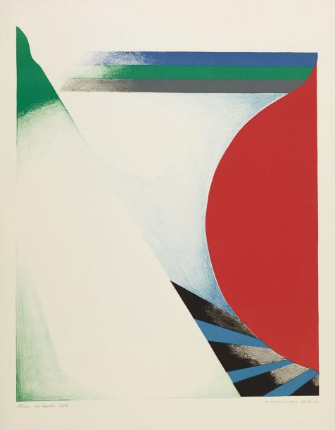 TAKESADA MATSUTANI (NE EN 1937) THE BEACH, 1970 Lithographie en couleurs sur papier…