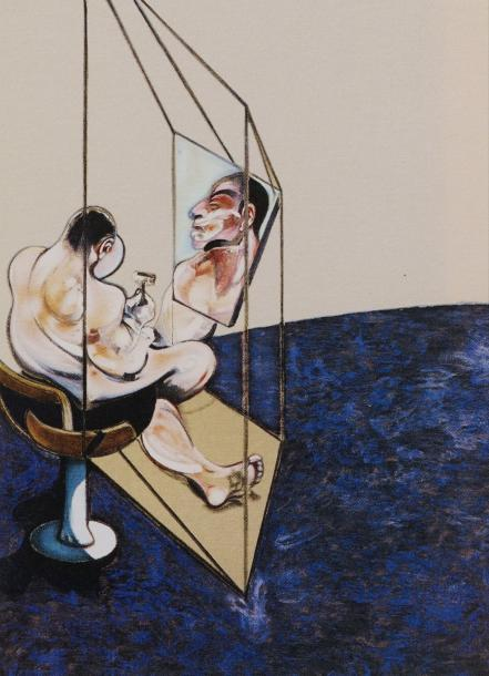 FRANCIS BACON (1909-1992) THREE STUDIES OF THE MALE BACK, 1987 (Sabatier, 21) Triptyque…