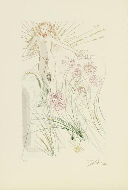 SALVADOR DALI (1904-1989) THE BELOVED FEEDS AMONG THE LILIES, 1971 (Michler & Lopsinger,…
