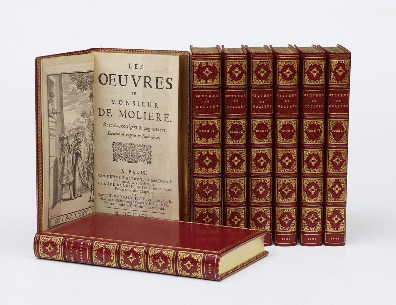 MOLIÈRE [Jean-Baptiste POQUELIN] Oeuvres. 6 volumes. - Les Oeuvres posthumes. 2 volumes.…