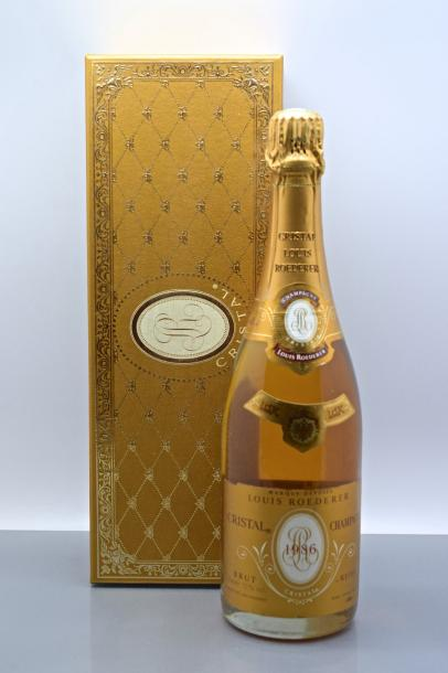 "1 bouteille CHAMPAGNE ""Cristal"", Roederer 1986 (coffret individuel)"