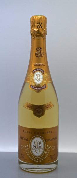 "1 bouteille CHAMPAGNE ""Cristal"", Roederer 2006"