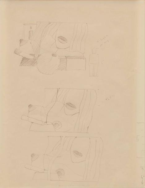 TOM WESSELMANN (1931-2004) *WORKING DRAWING FOR GREAT AMERICAN NUDE #98, CIRCA 1967…