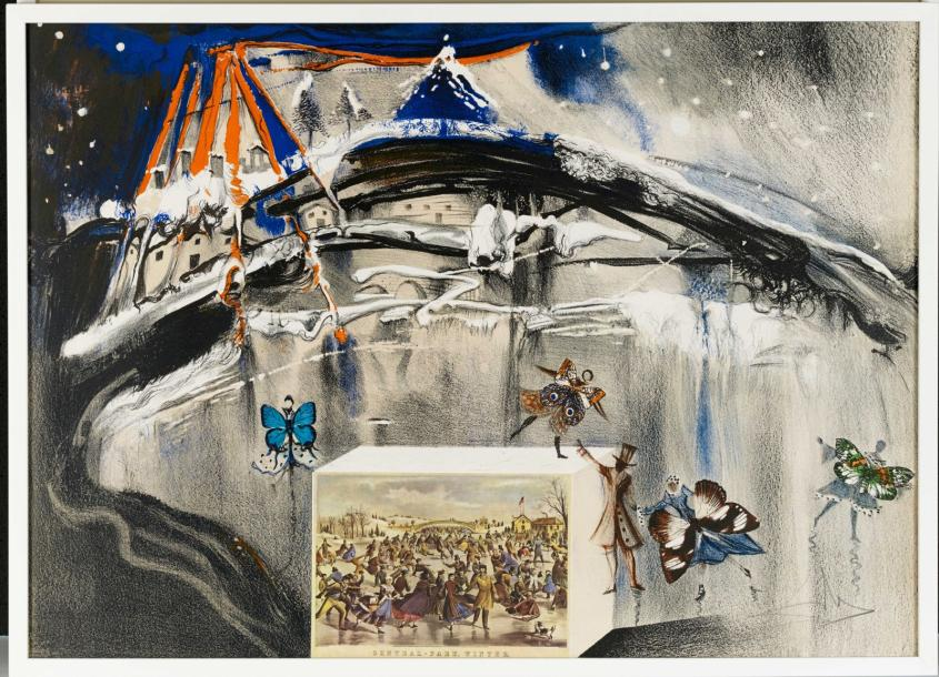 SALVADOR DALI (1904-1989) NEW YORK CENTRAL PARK WINTER, 1971 (Michler & Löpsinger,…