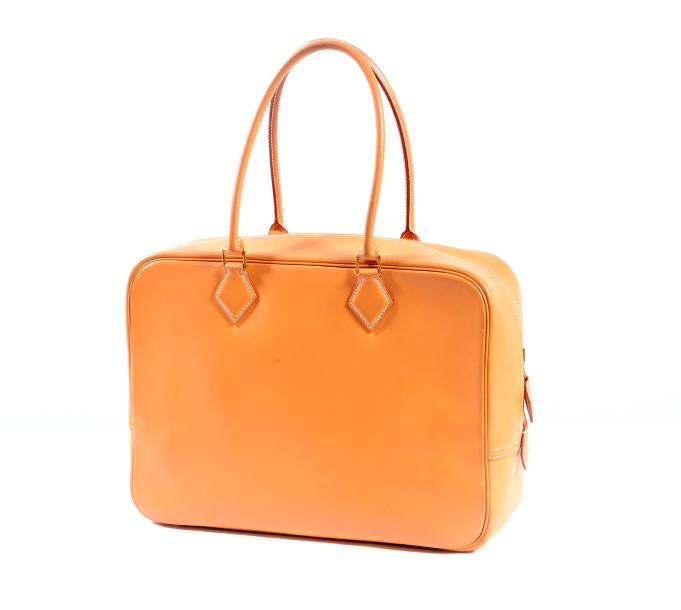 "HERMES Paris made in France année 1999  Sac ""Plume"" 32cm en veau swift naturel à…"
