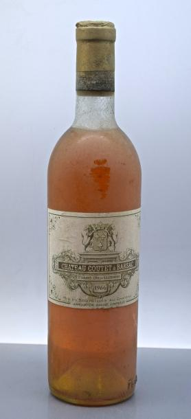 1 bouteille CH. COUTET, 1° cru Barsac 1966 (es, TLB)