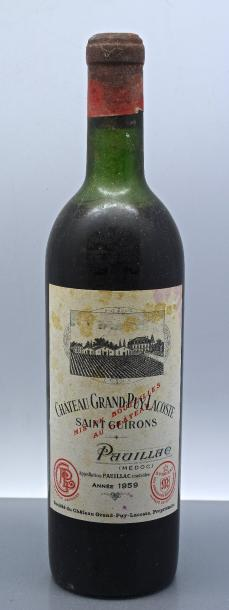 1 bouteille CH. GRAND-PUY-LACOSTE, 5° cru Pauillac 1959 (es, MB)
