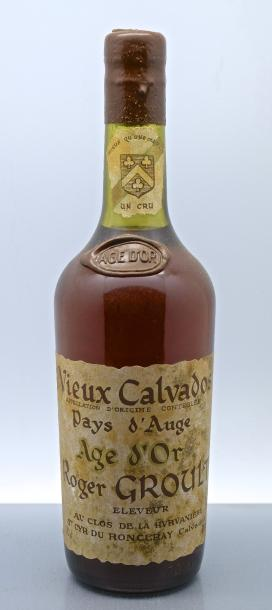 "1 bouteille CALVADOS ""Pays d'Auge, Age d'Or"", R Groult (TLB)"