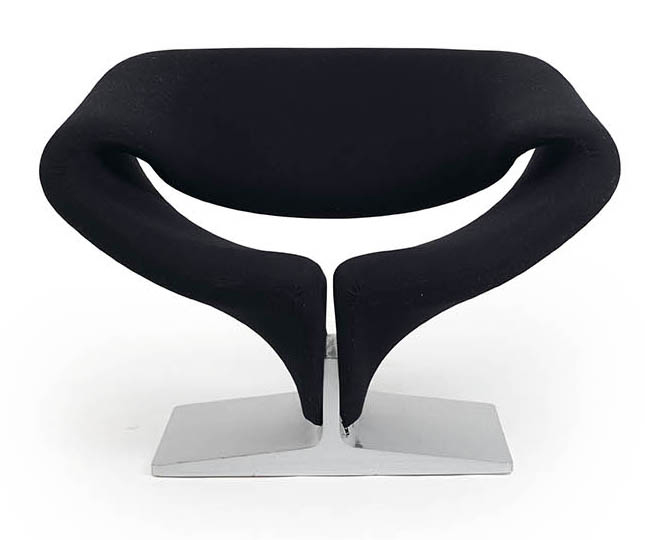 "PIERRE PAULIN (1927-2009) FAUTEUIL F 582 DIT ""RIBBON CHAIR"" Structure tubulaire en…"