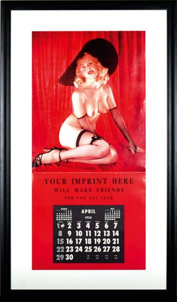 CALENDRIER PIN UP 1956 - GOLDEN GIRL Rare prototype de calendrier pour représentants…