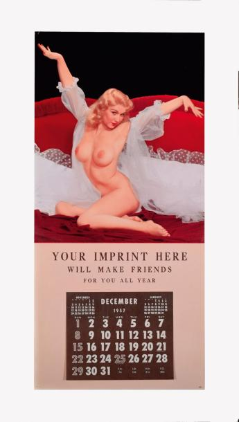 CALENDRIER PIN UP 1957 - JOY OF LIVING Rare prototype de calendrier pour représentants…