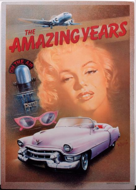 THE AMAZING YEARS Tôle lithographiée. Copyright 1990 estate of Marylin Monroe. 77,5…