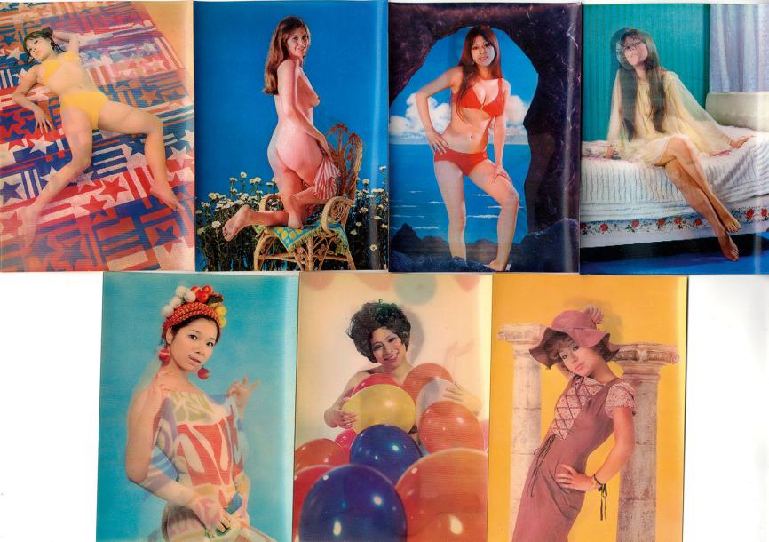 TOPPAN TOP STEREO Lot de 7 cartes postales de Pin-Up animées très amusantes dont…