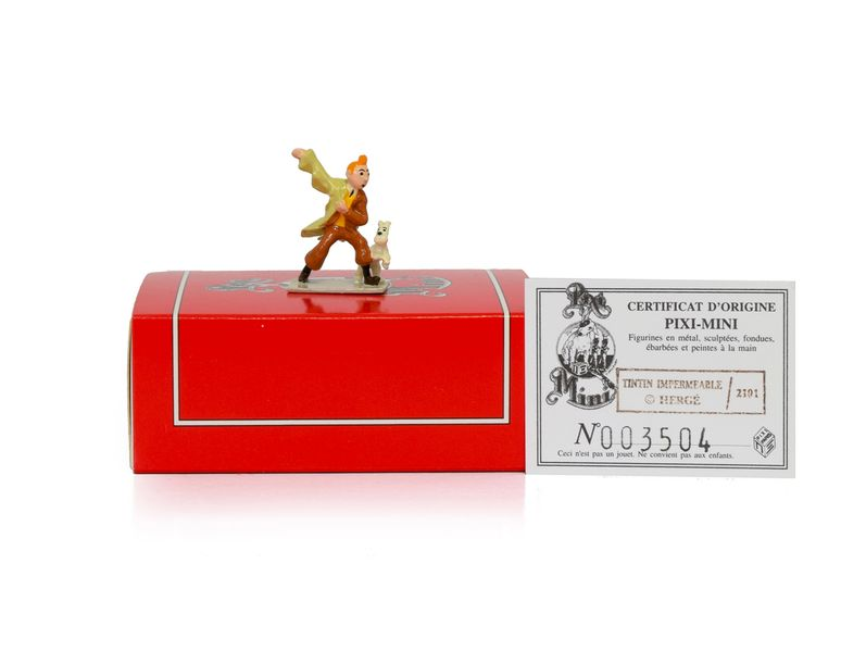 HERGE TINTIN PIXI 2101 Mini 1ère collection Figurine en plomb peinte à la main de…