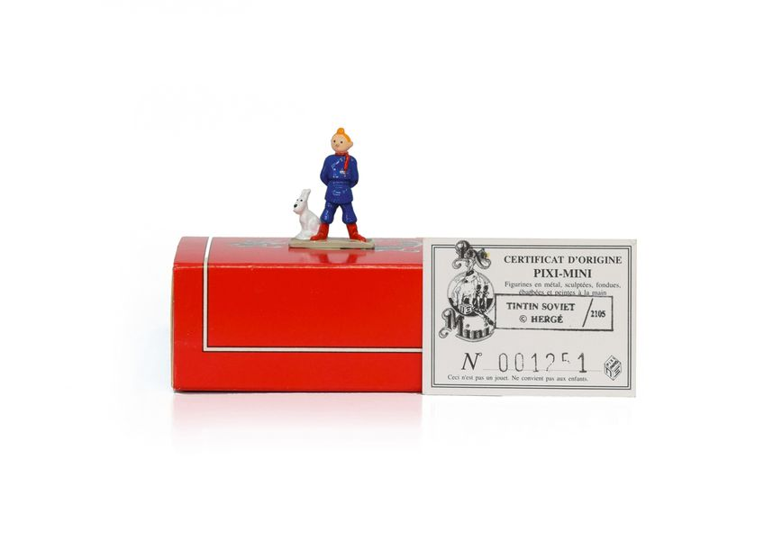 HERGE TINTIN PIXI 2105 Mini 1ère collection Figurine en plomb peinte à la main de…