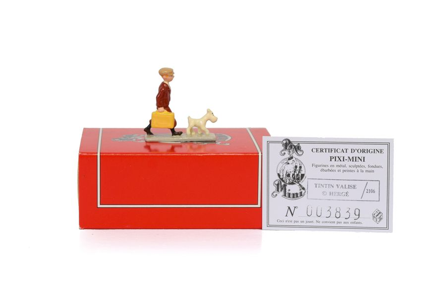 HERGE TINTIN PIXI 2106 Mini 1ère collection Figurine en plomb peinte à la main de…
