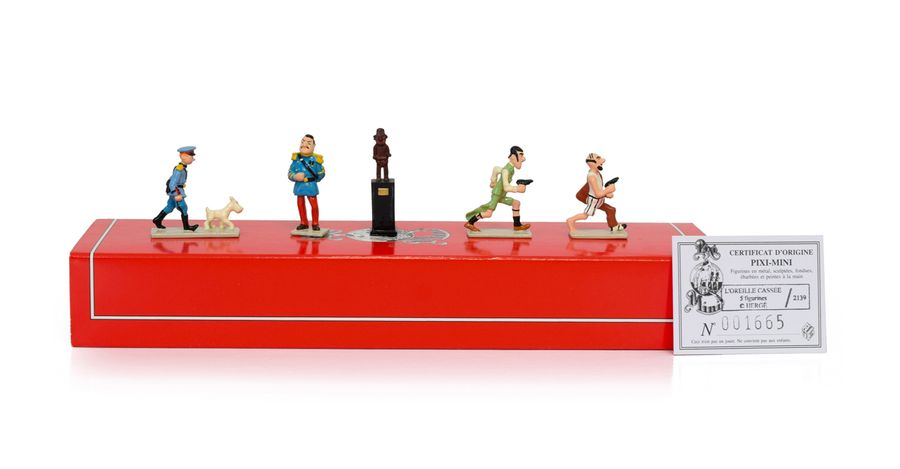 HERGE TINTIN PIXI 2139 Mini 1ère collection 5 figurines en plomb peintes à la main…