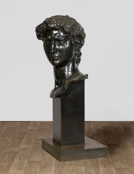 ARMAN (1928-2005) HEAD OF DAVID I, 1999 Bronze découpé et articulé à patine brune…