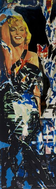 Mimmo rotella (1918-2006) Marilyn (miroirs d'artiste) -2004 Arrachage d'affiches…