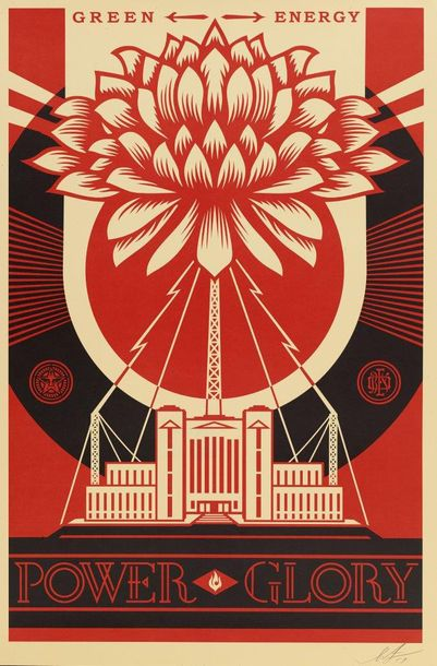 SHEPARD FAIREY (OBEY GIANT DIT) (NE EN 1970) GREEN POWER & DARK WAVE, 2017 Ensemble…