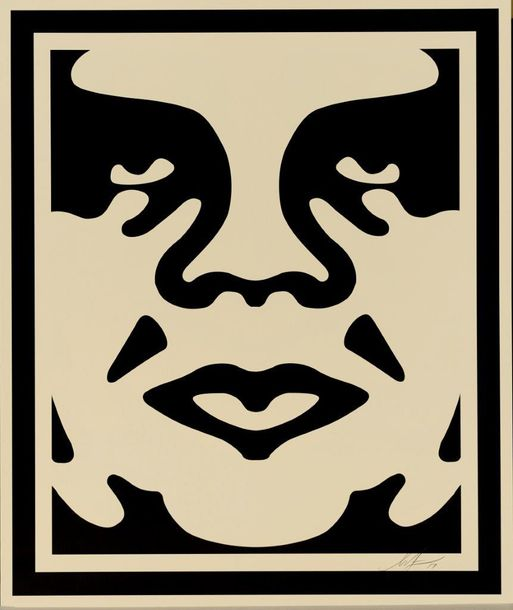 SHEPARD FAIREY (OBEY GIANT DIT) OBEY 3-FACE (CREAM), 2017 Trois impressions offset…