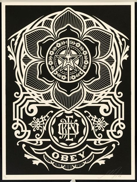 SHEPARD FAIREY (OBEY GIANT DIT) PEACE ORNAMENT, 2006 Impression offset en couleurs…