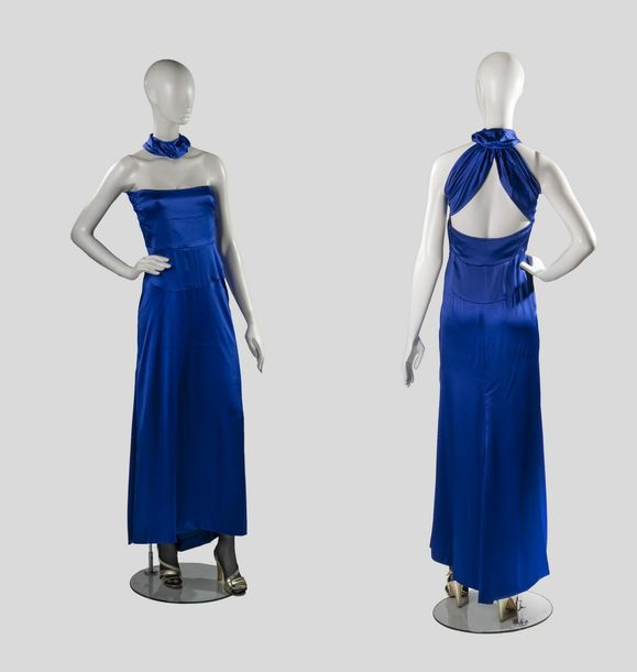 17. YVES SAINT LAURENT - COLLECTION HAUTE COUTURE, CIRCA 1985 Robe de soir long…