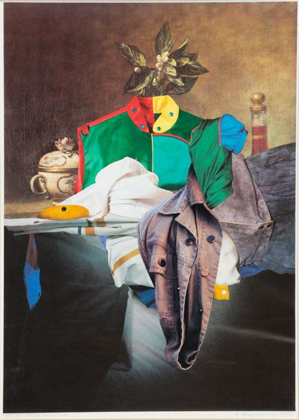 ROMAN CIESLEWICZ (1930-1996) NATURE MORTE DECOUSUE Collage sur papier Signé et daté…