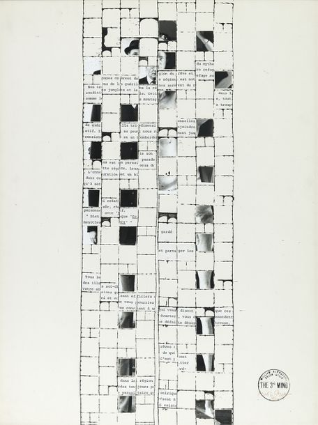 BRION GYSIN (1916-1986) THE THIRD MIND (CUT UP I), 1976 Collage photographique sur…