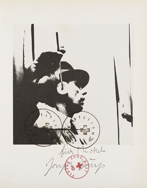 130. JOSEPH BEUYS (1921-1986)  L'UDITO  Offset lithographie  Exemplaire hors commerce…