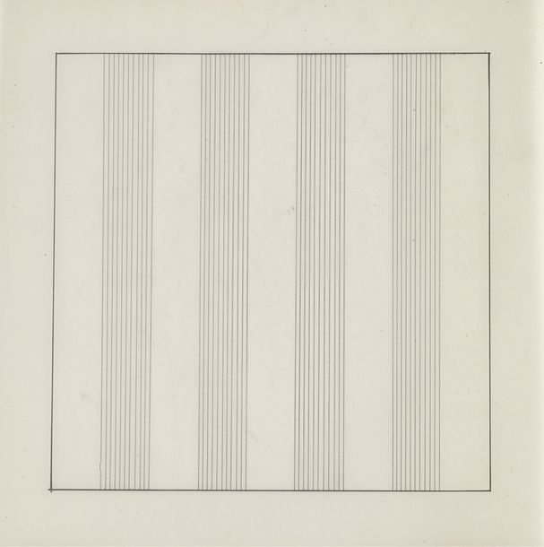 133. AGNES MARTIN (1912-2004)  PAINTINGS AND DRAWINGS 1974-1990, 1991  Album composé…