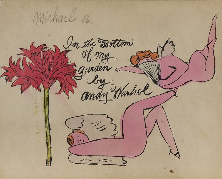 ANDY WARHOL (1928-1987) * IN THE BOTTOM OF MY GARDEN BY ANDY WARHOL, 1955 Aquarelle…