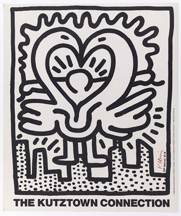KEITH HARING (1958-1990) THE KUTZTOWN CONNECTION, 1984 Lithographie offset en noir…
