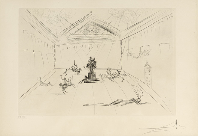 SALVADOR DALI (1904-1989) PLAZA MAYOR, 1975 (Michler & Löpsinger, 582) Pointe-sèche…