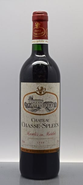 1 bouteille CH. CHASSE-SPLEEN, Moulis 1998 (ets)