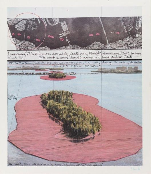 CHRISTO (NE EN 1935) SURROUNDED ISLANDS, PROJECT FOR BISCAYNE BAY, GREATER MIAMI,…