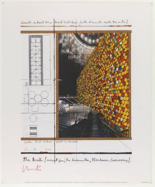 CHRISTO (NE EN 1935) THE WALL, PROJECT FOR THE GASOMETER, OBERHAUSEN, GERMANY, 1999…