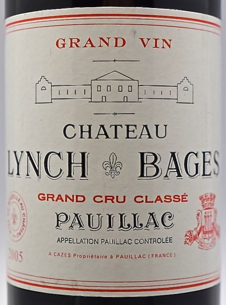 1 bouteille CH. LYNCH-BAGES, 5° cru Pauillac 2005